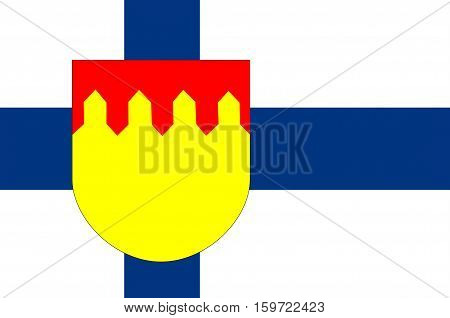 Flag Of Pirkanmaa also known as Tampere Region region in Finland