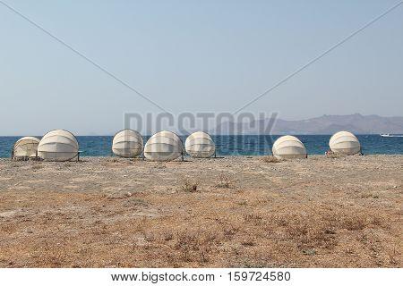 Beach on the island of Kos (Greece). Aegean sea.