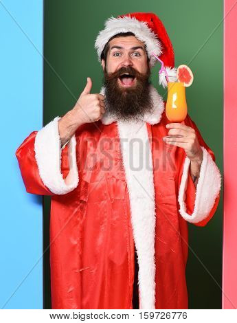Smiling Bearded Santa Claus Man
