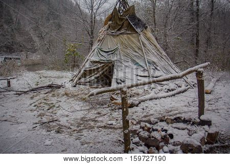 Near of Kinderlinskaya cave and village Tash-Asty on Zilim river.