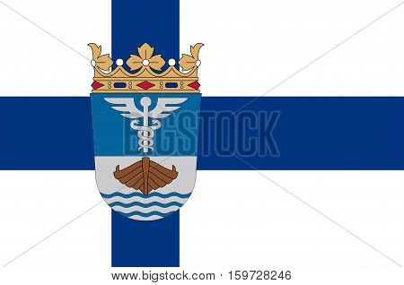 Flag Of Jyvaskyla is a city and municipality in Central Finland region in Finland
