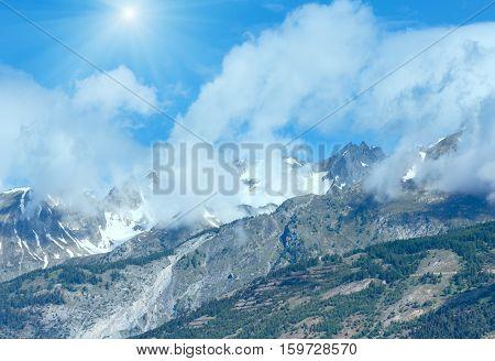 Summer Mountain Sunshiny Landscape (alps, Switzerland)