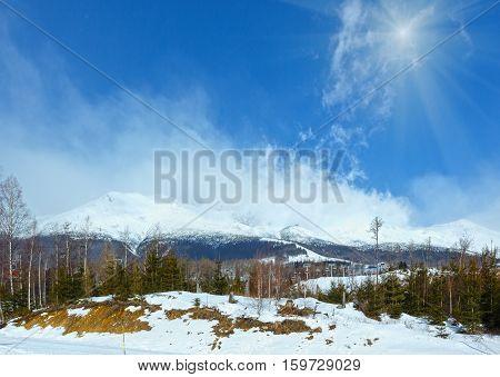 Sunshiny Winter Mountain (tatranska Lomnica, Slovakia)