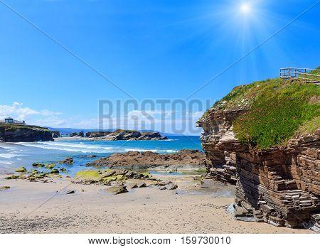 Los Castros Sunshiny Beach (galicia, Spain).