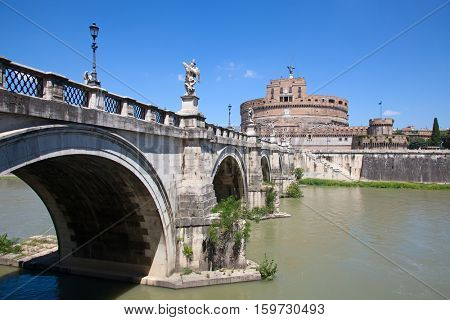 Castel Sant'Angelo. Old fortress in Rome, Italy