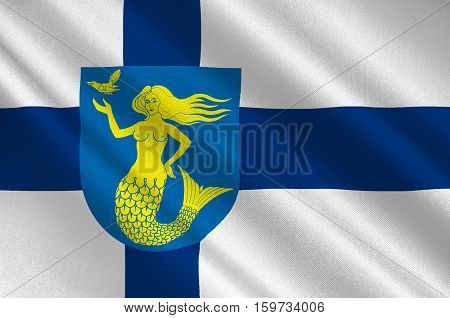 Flag Of Paijanne Tavastia region in Finland. 3d illustration