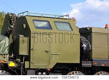 Box of the vehicle for technical support of army units