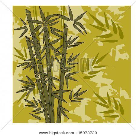 bamboo grunge background vector