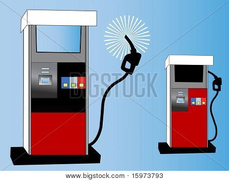 gas pump concept vector