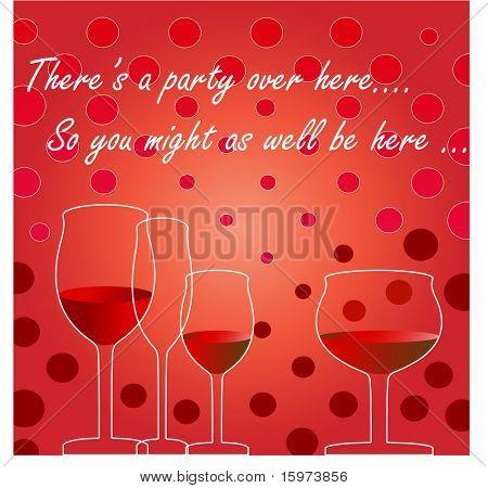 invitation wine glasses vector Text