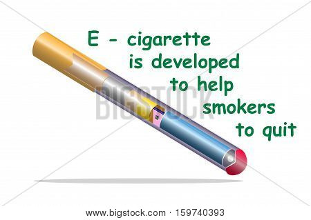 Electron cigarette help smokers to quit isolated