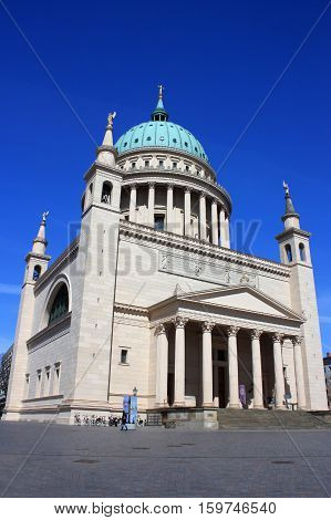 Nikolai Church in a sunny day.Potsdam Germany - 20.04.2016.