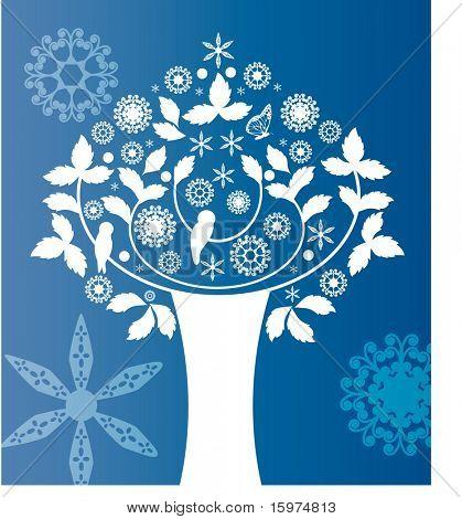 folkart tree summer or winter