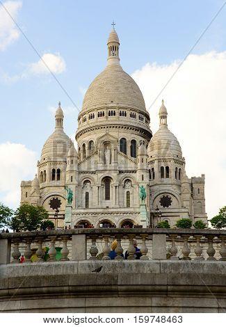 Basilica Sacre-Coeur on the Montmartre hill Paris France