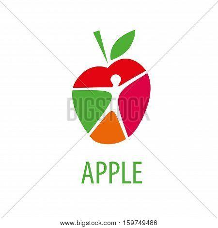 Template design logo apple. Vector illustration of icon