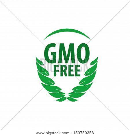 Template design logo gmo free. Vector illustration of icon