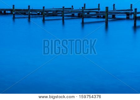 dock for boats in a lake