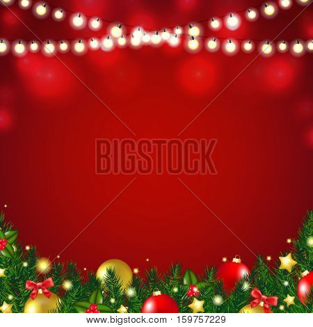 Christmas Card With Gradient Mesh, Vector Illustration