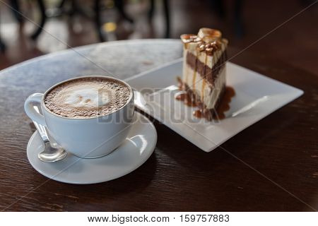 Banoffee Pie Cakes With Coffee Latte Art