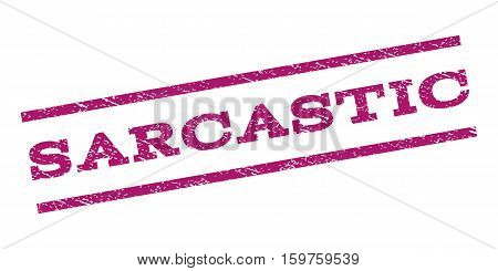 Sarcastic watermark stamp. Text caption between parallel lines with grunge design style. Rubber seal stamp with scratched texture. Vector purple color ink imprint on a white background.