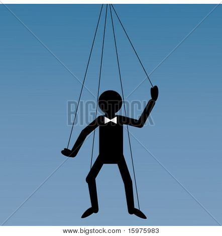 puppet on a string concept