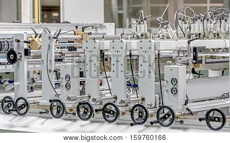 automated production line of plastic bags .