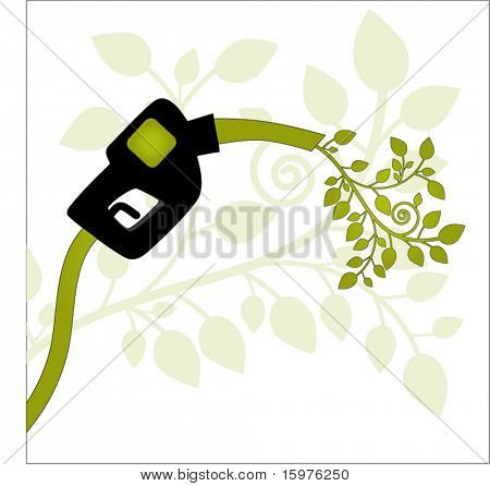 gas pump with leaves for gas environment concept