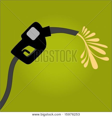 gas pump with gas spilling out