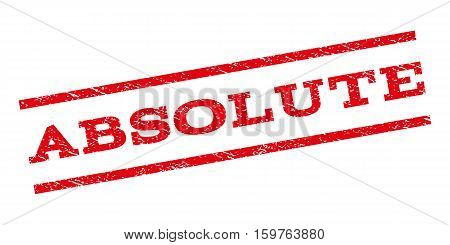 Absolute watermark stamp. Text caption between parallel lines with grunge design style. Rubber seal stamp with dust texture. Vector red color ink imprint on a white background.
