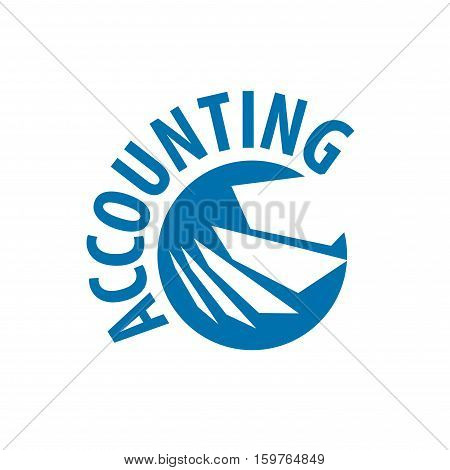template design logo accounting. Vector illustration of icon