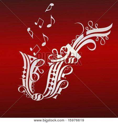 ornate design series  horn