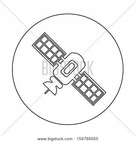 an images of satellite icon illustration design