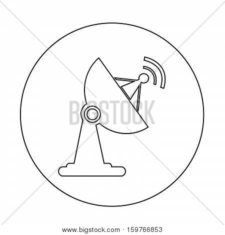 an images of satellite dish icon illustration design