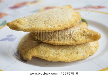 frozen crispy pancakes with filling of cheese