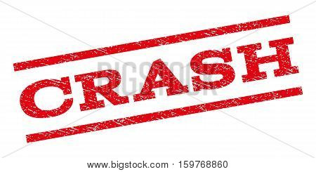 Crash watermark stamp. Text tag between parallel lines with grunge design style. Rubber seal stamp with dirty texture. Vector red color ink imprint on a white background.