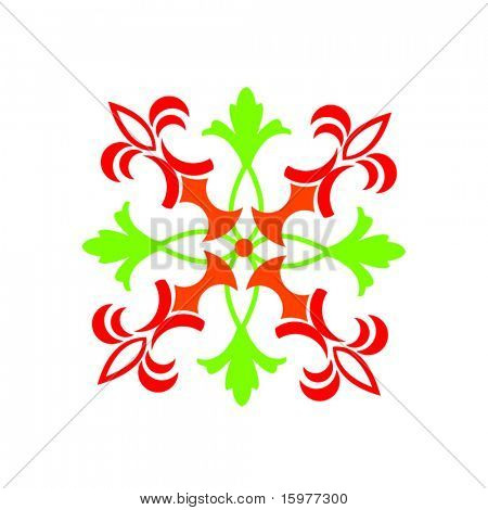funky design in christmas colors - change to your liking