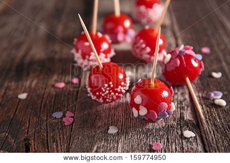 festive toffee candy,cake pop