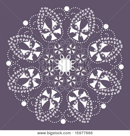 lacy snowflakes/flowers 3  of 3