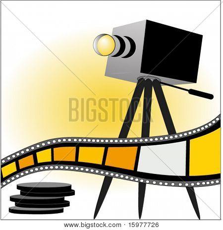 film strip with tripod