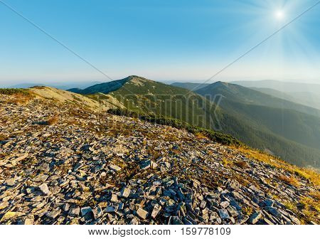 Summer Sunshiny Mountain View (carpathian, Ukraine).