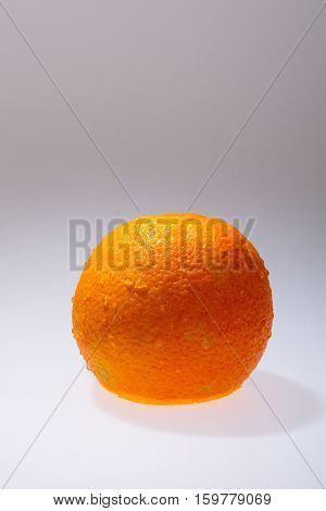 Orange fruits and Splashing water Isolated on white background
