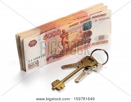 Russian Money. Real Estate Concept