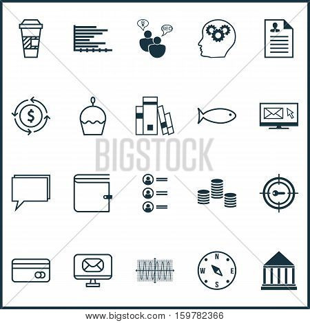 Set Of 20 Universal Editable Icons. Can Be Used For Web, Mobile And App Design. Includes Elements Such As Education Center, Money, Birthday Cake And More.