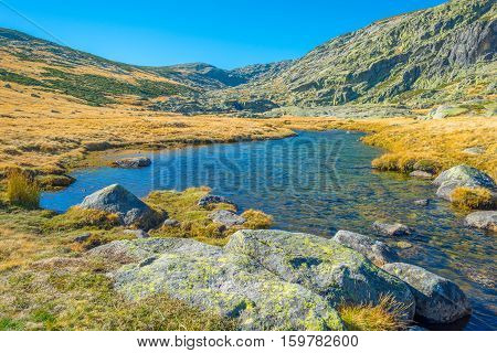 Hills of natural park Sierra de Gredos