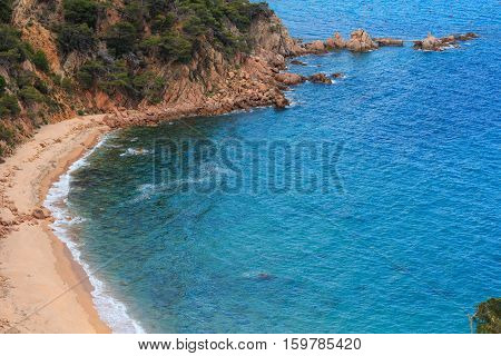 Summer Sea Rocky Coast View (spain).