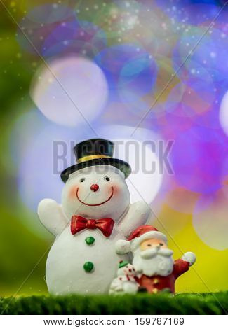 Christmas toy with colorful bokeh background Xmas Idea