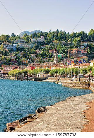Embankment Of Ascona In Ticino Of Switzerland