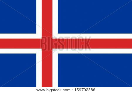 Flag of Republic of Iceland is a Nordic island country