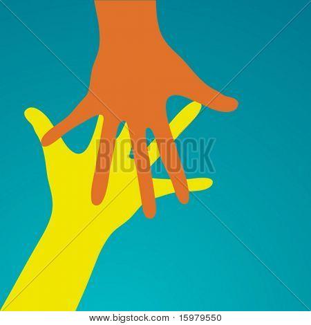 Hände zu erreichen