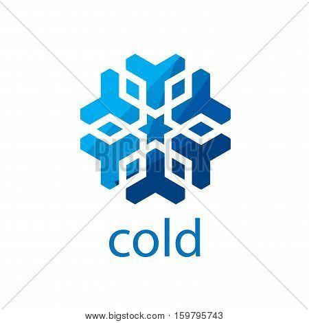 pattern design logo cold. Vector illustration of icon